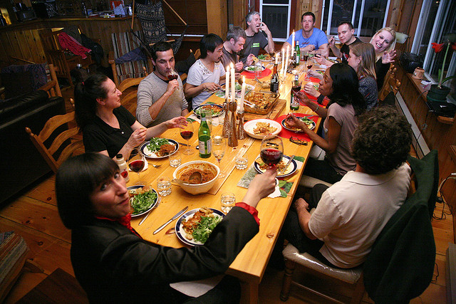 cena en casa particular
